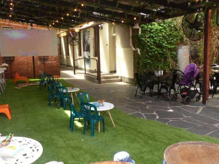 The awesome rear courtyard at Rumours Cafe.