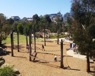 The Royal Park Nature Playground - pretty big.
