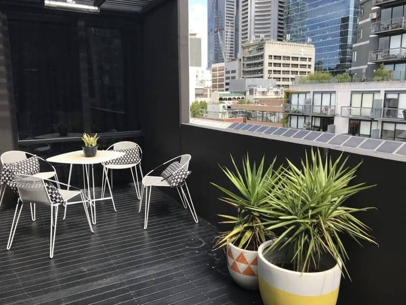 The view from the balcony of one of the Ovolo Penthouse