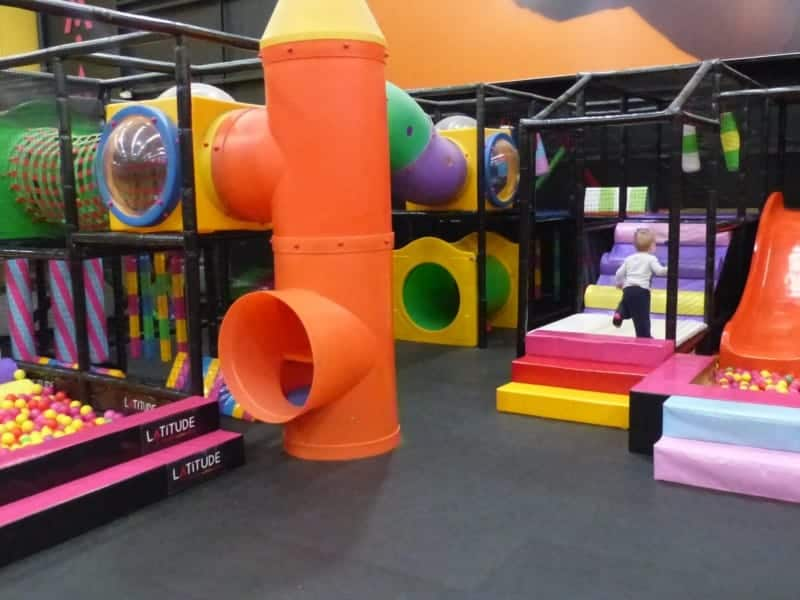 Younger kids play area: our little 2yo goes off once again.