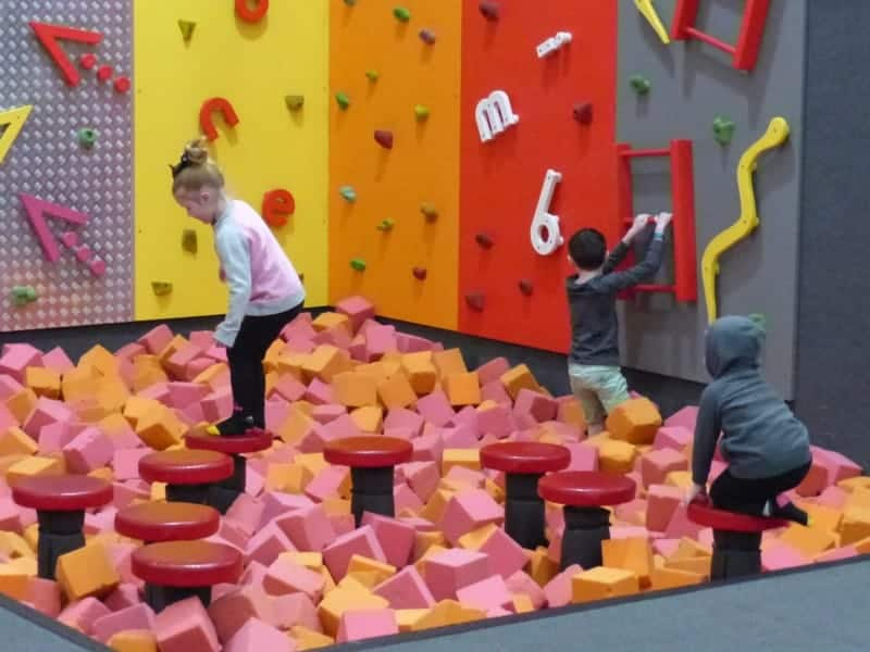 This foam pit was so popular that it often left like there was more kids than foam in there. And this was just the smallest of several...
