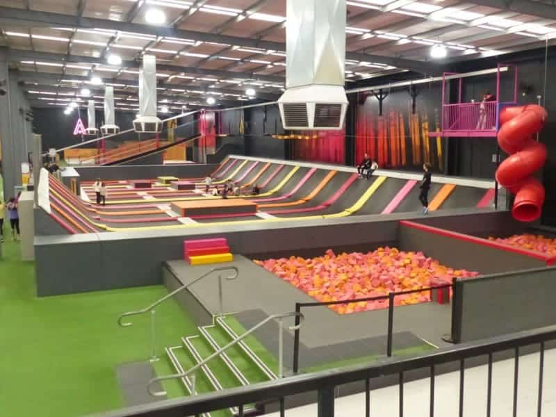 Lattitude Melbourne: just some of the trampolines.