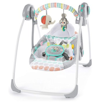Bright Starts Whimsical Wild Compact Automatic Swing