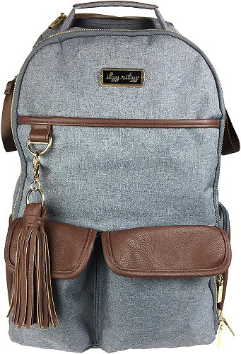 The tassel on the Itzy Ritzy diaper bag makes it one of the stylish mum backpack Australia options.