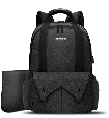 The Stergo Baby Nappy Backpack is another one of the best nappy bags for dads Australia offers.