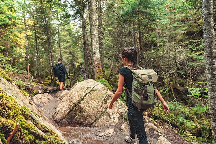 Hiker with Hiking Backpack