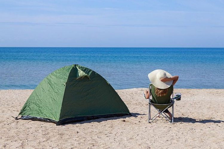 Tent by the Beach