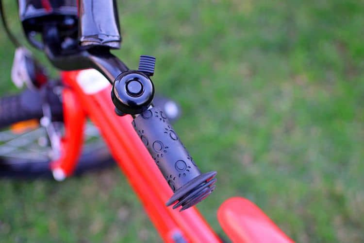 Black Bicycle Bell Ring For Safety On Handle