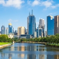Skyline Of Melbourne City Business District